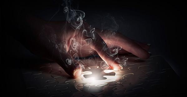 person solving puzzle